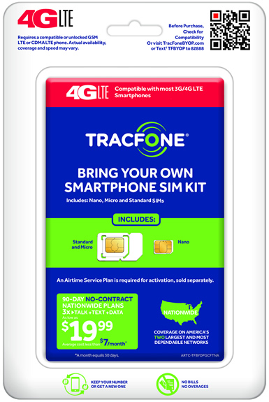 TracFone 3-in-1 Activation Kit
